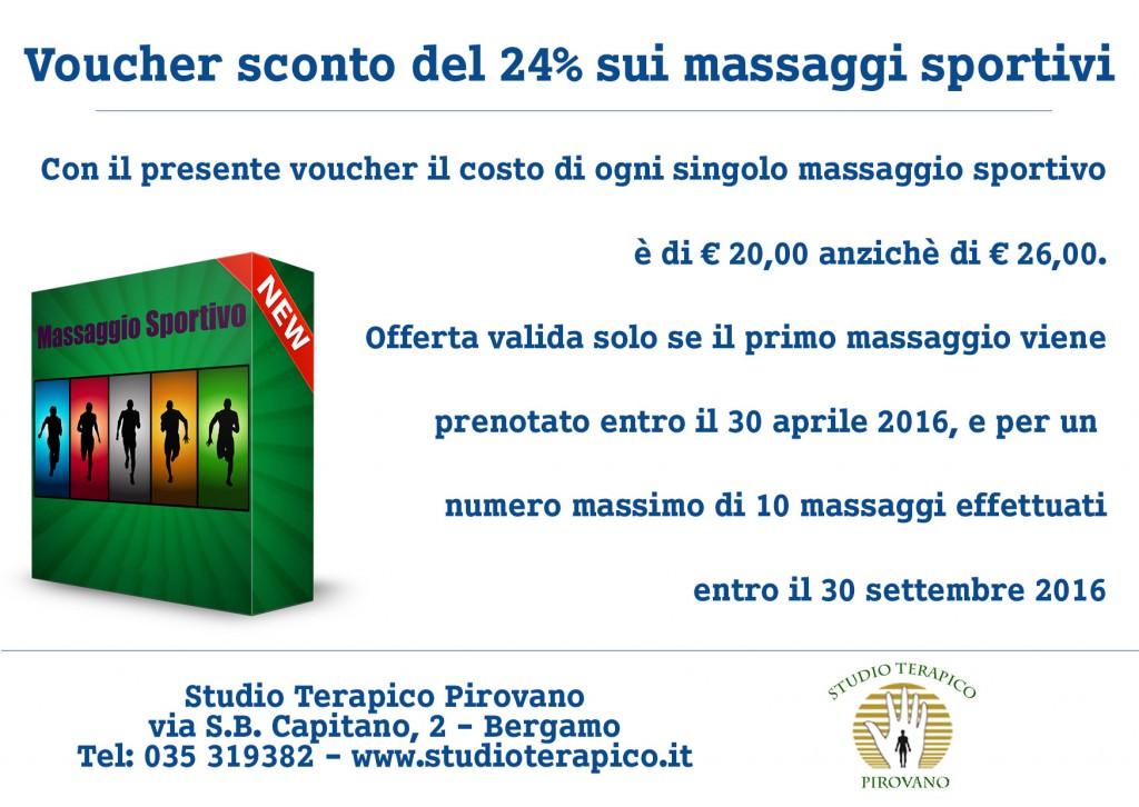 promozione massaggio sportivo a bergamo